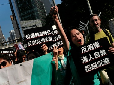 Hong Kong protest. AP