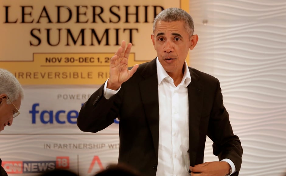 Former US president Barack Obama opened Day 2 of the Hindustan Times Leadership Summit 2017 in New Delhi on Friday. Twitter@narendramodi