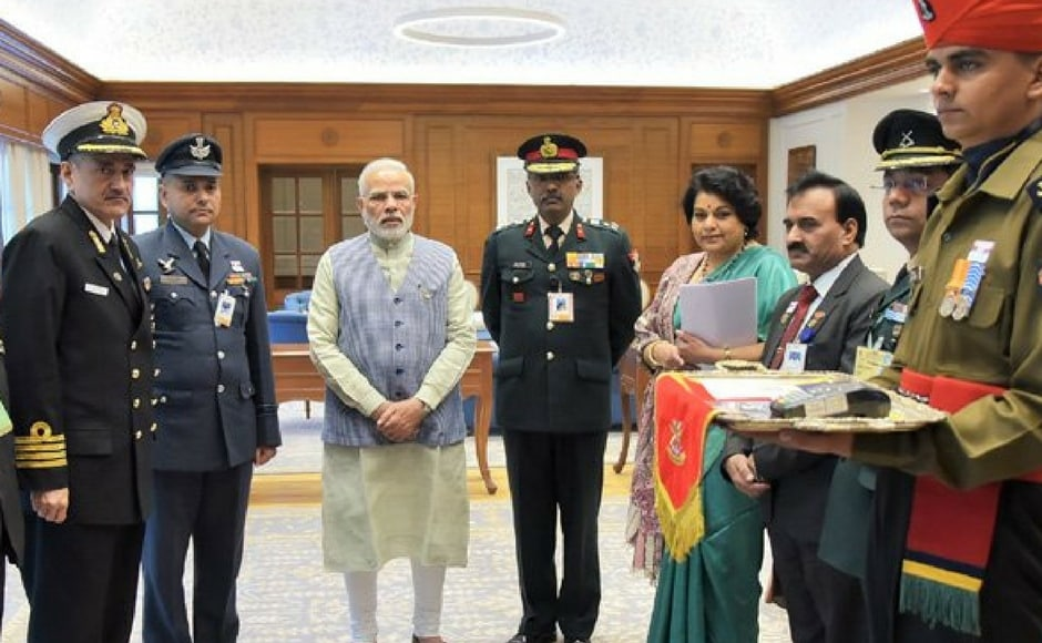 Politicians cutting across party lines expressed solidarity with India's armed forces personnel and ex-servicemen on the occasion of Armed Forces Flag Day, celebrated on 7 December. Twitter@narendramodi