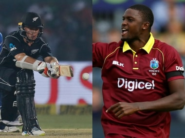 New Zealand captain Tom Latham and Windies captain Jason Holder. Agencies