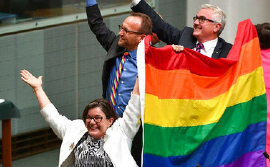 ' What a day for love, for quality, for respect! Australia has done it,'  Malcolm Turnbull told the House. AP