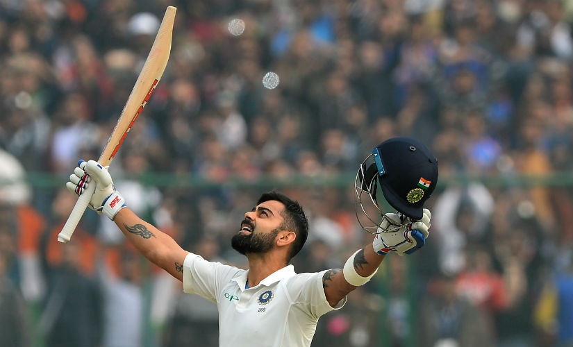 Virat Kohli surpassed Brian Lara for most double-tons as captain in Tests with his 243 in Delhi against Sri Lanka. AFP