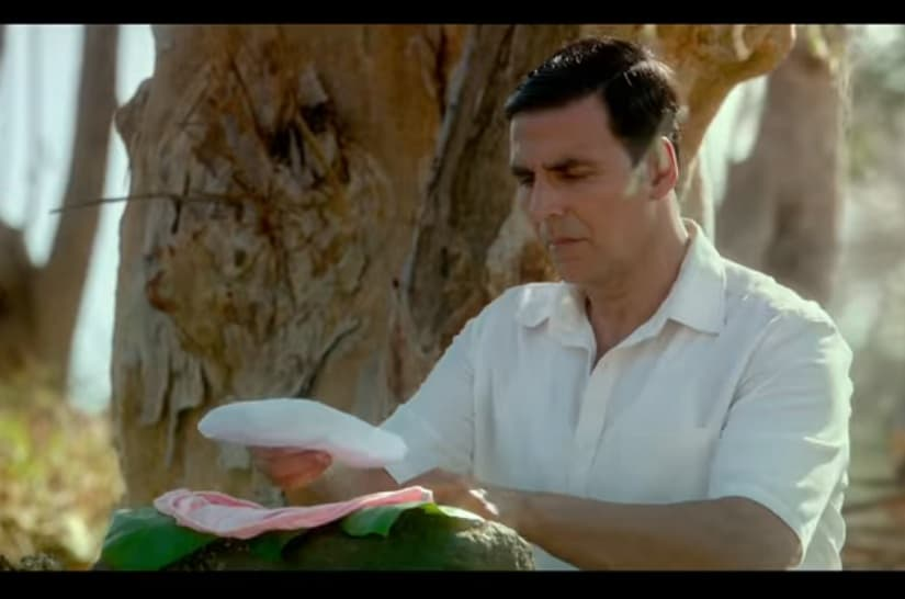 Akshay Kumar in a still from the Padman trailer. youTube screengrab