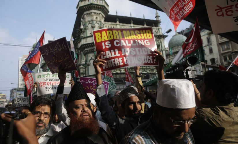 The legal history of the dispute is linked to the claims that a general of the Mughal emperor Babur demolished a temple, located at the spot where Lord Ram is believed to have been born, to construct the Babri Masjid. AP