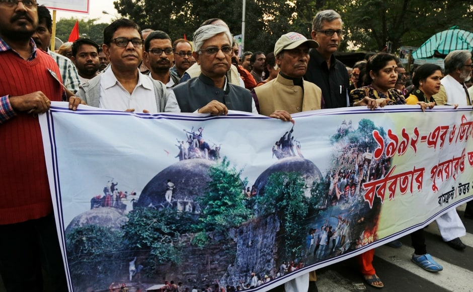 """The Supreme Court had on Tuesday deferred the final hearing in the case pertaining to the Babri Masjid-Ram Mandir title suit to 8 February, 2018. In an advisory, the Union home ministry had warned all states that the 25th anniversary of the demolition could lead to demonstrations, protests and dharna by """"both communities"""". PTI"""