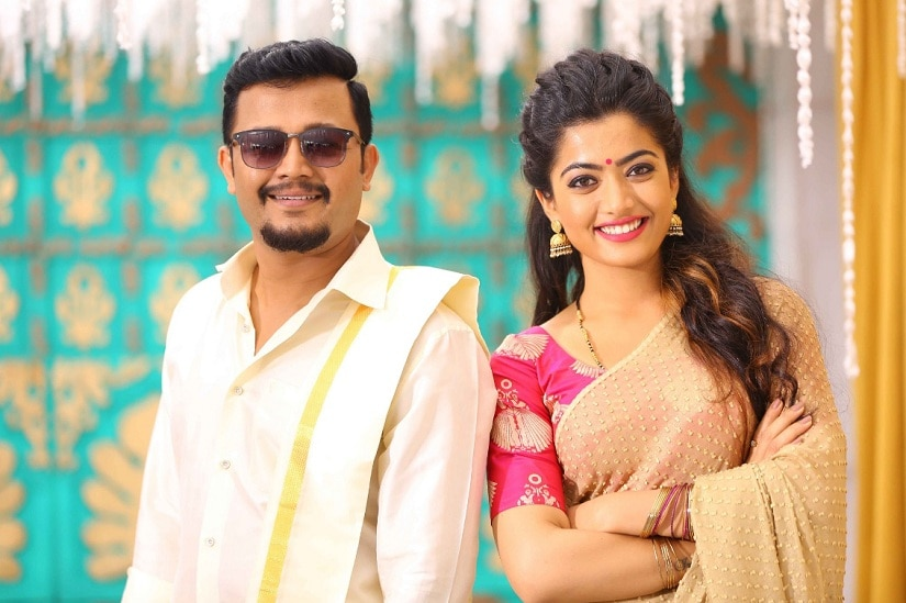 Ganesh and Rashmika Mandanna in Chamak. Image from Twitter/@Official_Ganesh