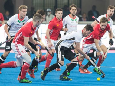 Hockey World League Final 2017 action between Germany and England. Twitter/@EnglandHockey