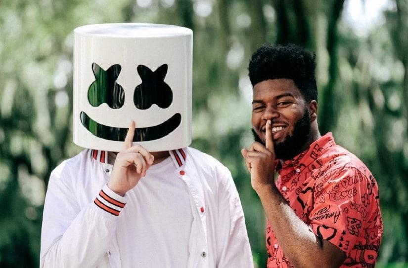 Marshmello and Khalid. Image from Twitter/@Shazam.