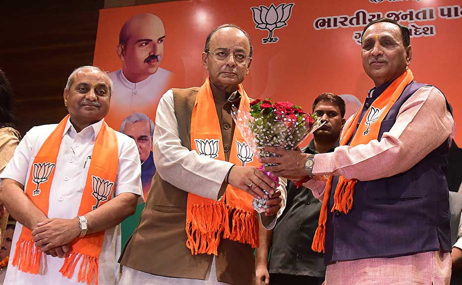 Vijay Rupani elected Gujarat chief minister for second term, Nitin Patel to continue as Deputy CM