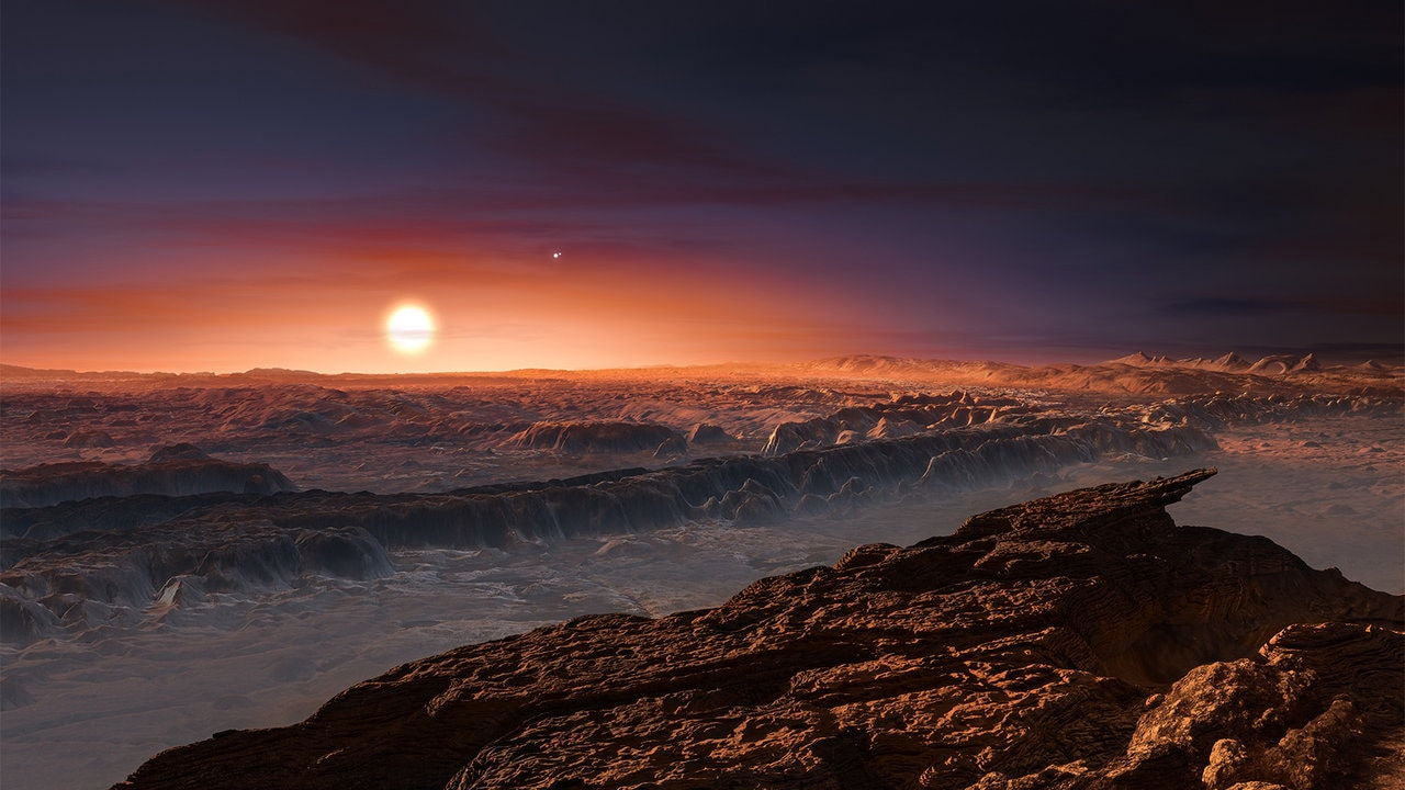 An artist's impression of the surface of Proxima B. Image: NASA.