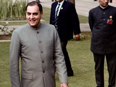 File image of Rajiv Gandhi. AFP