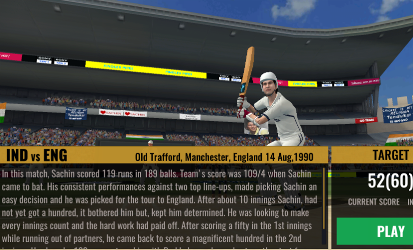 The charm of Sachin Saga stems from it being a trip in history and tying the Tendulkar enthusiast even more closely with his 'Cricket God'. In that sense, Sachin Saga is more than a mobile game.