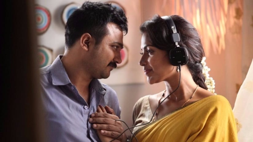 Bobby Simha and Amala Paul in a still from Thiruttu Payale 2