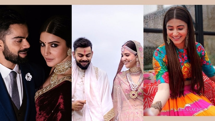 Virat Kohli and Anushka Sharma's wedding functions in Tuscany. Images from Instagram.