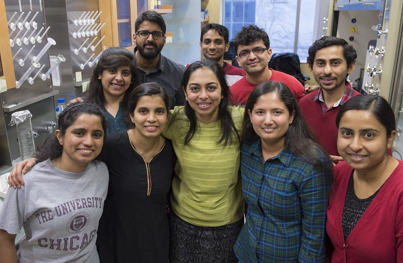 Prof Yamuna Krishnan transplanted most of her research group from India to the United States since joining the University of Chicago faculty in 2014. Image courtesy UChicago