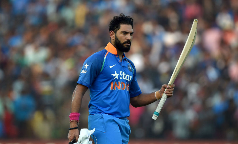 Yuvraj Singh returns to the pavilion after scoring a majestic 150 in the second ODI against England at the Barabati Stadium in Cuttack in January, 2017. AFP