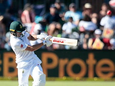 South African batsman AB de Villiers plays a shot during the first day of the day night Test cricket match between South Africa and Zimbabwe at St. George's Park Cricket Ground in Port Elizabeth on December 26, 2017. / AFP PHOTO / GIANLUIGI GUERCIA