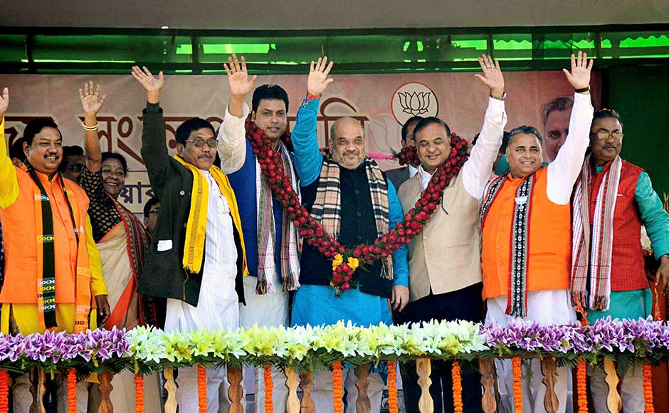 Amit Shah in Tripura: Ahead of assembly polls, BJP chief raises issues of corruption, unemployment