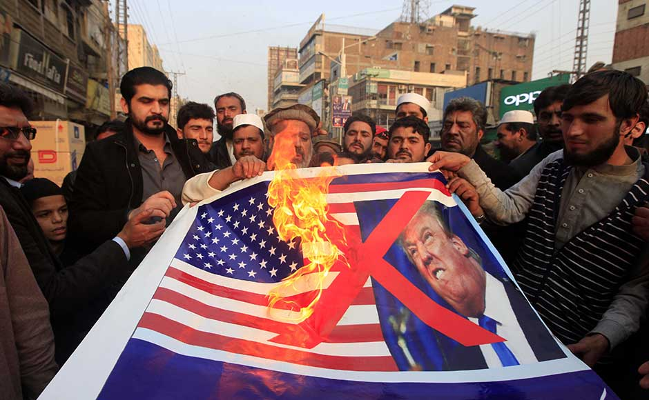 Protests emerge in Pakistan against Donald Trump's decision to suspend over $1 billion military aid