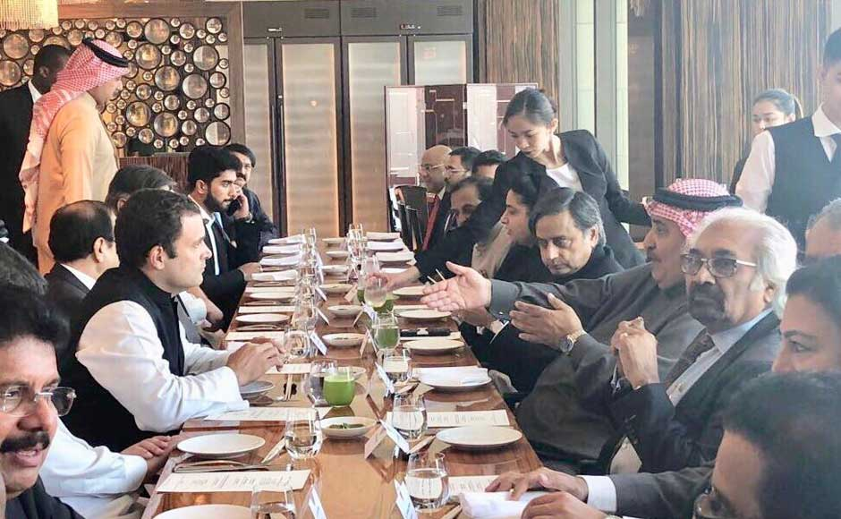 Rahul, who will be a State guest of Bahrain, is expected to meet King Hamas bin Isa Al Khalifa. He was also hosted by Foreign Minister of Bahrain, Sheikh Khalid bin Ahmed Al Khalifa. Twitter@OfficeOfRG
