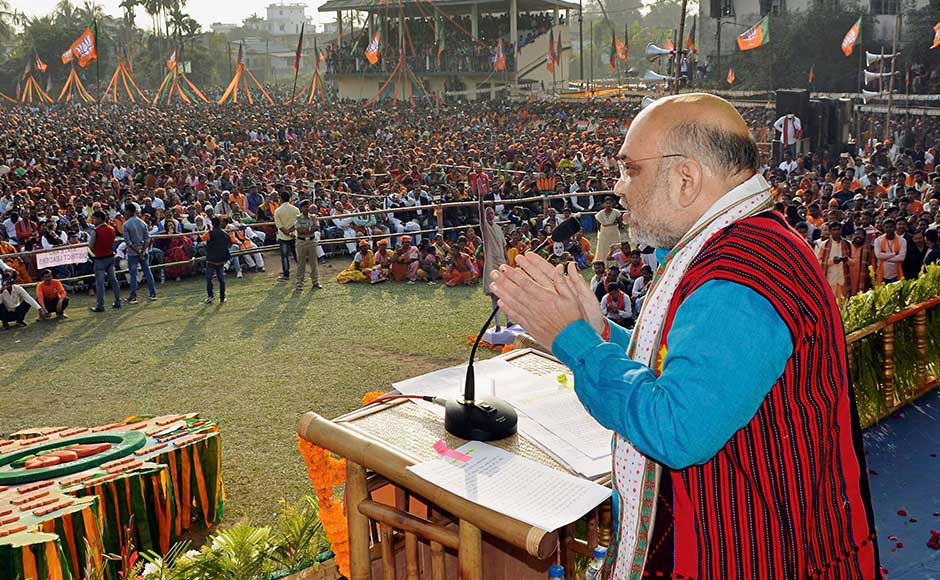 At another rally in Kulai, Shah said a regime change in Tripura had become inevitable as the incumbent government had failed on many fronts, including combating the crimes against women and unemployment.Twitter@AmitShah
