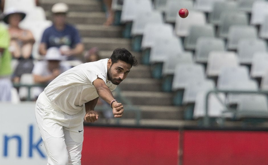 India's pace trio of Bhuvneshwar Kumar, Mohammed Shami and Jasprit Bumrah ensured South Africa get bowled out for mere 130 runs. India were set a target of 208 to win the Test. AP