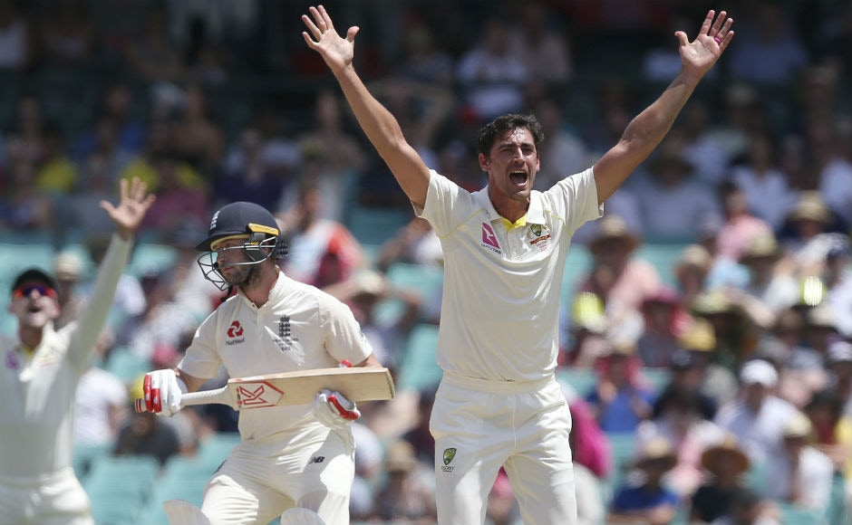 Finally, Australia declared their innings after scoring 649 runs for the loss of seven wickets. Shaun Marsh scored 156 while Mitchell made 101. England were off to a terrible sart with Mitchell Starc dismissing Mark Stoneman for a duck. AP