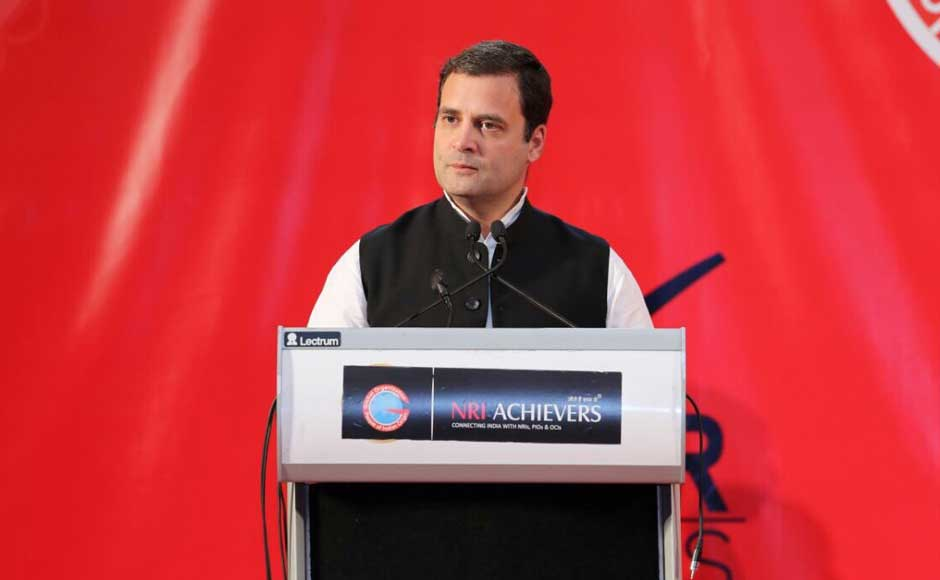 The Congress president addressed a gathering of Persons of Indian Origin (PIOs) in the Gulf country.