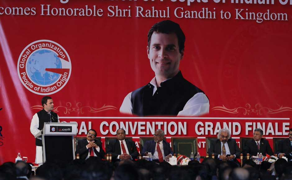 At the gathering, Rahul said that no global vision for India can be built without the contribution of PIOs.