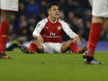 Arsenal's Alexis Sanchez. AP