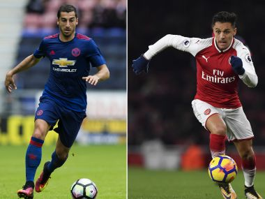 Manchester United's Henrikh Mkhitaryan (L) and Arsenal's  Alexis Sanchez are set to exchange sides. AFP