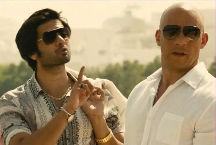 Ali Fazal and Vin Diesel in Furious 9. YouTube screengrab