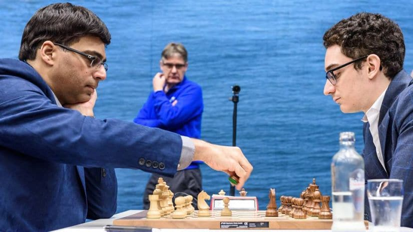 Viswanathan Anand in his third round game against Caruana Image Courtesy: Alina L'ami