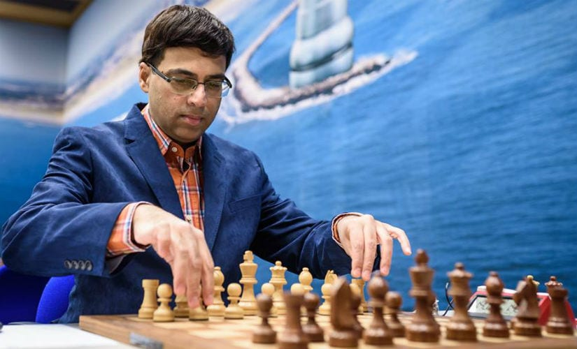 Round 5 pitted Viswanathan Anand against an extremely well prepared Wei Yi. Image Courtesy: Alina L'ami