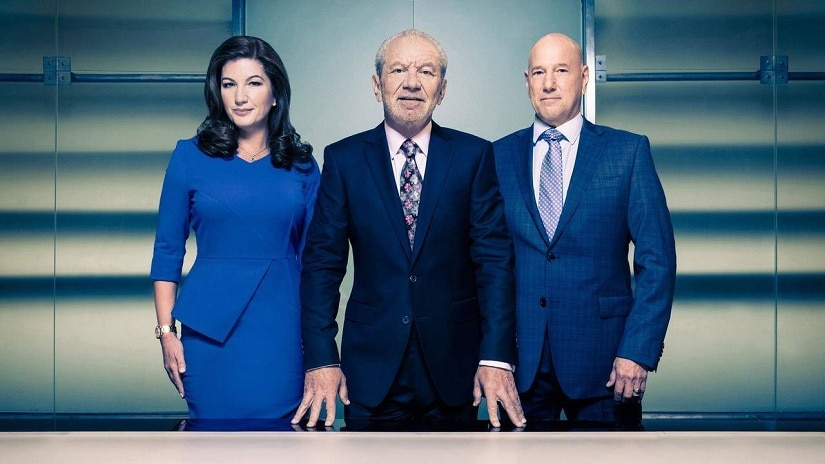 Still from The Apprentice featuring Lord Sugar (centre). Facebook/freesat