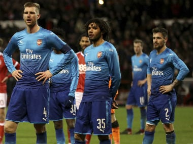 Arsenal suffered one of their lowest points in recent times after crashing out in the FA Cup. AP