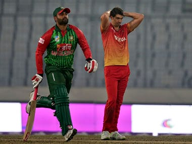 Tri-nation series: Bangladesh's Tamim Iqbal, Shakib Al Hasan star in eight-wicket win over Zimbabwe