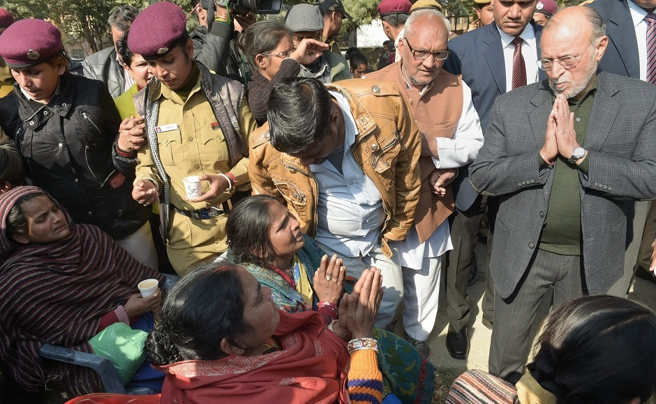 Delhi Lieutenant Governor Anil Baijal also met the families of those killed in the blaze. He assured strict action against those responsible for the fire. PTI