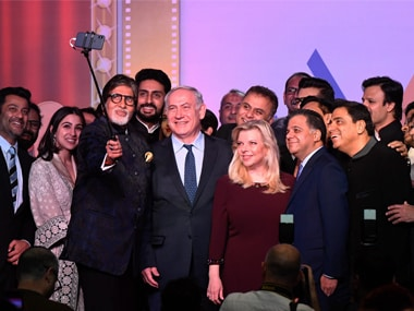 Shalom Bollywood: Benjamin Netanyahu creates his own 'Oscar moment', clicks selfie with Amitabh Bachchan, Aishwarya Rai and others in Mumbai