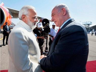 Prime Minister Narendra Modi met his Israeli counterpart Benjamin Netanyahu in July 2017. PTI