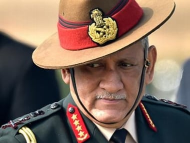 File image of Indian Army chief Bipin Rawat. News18