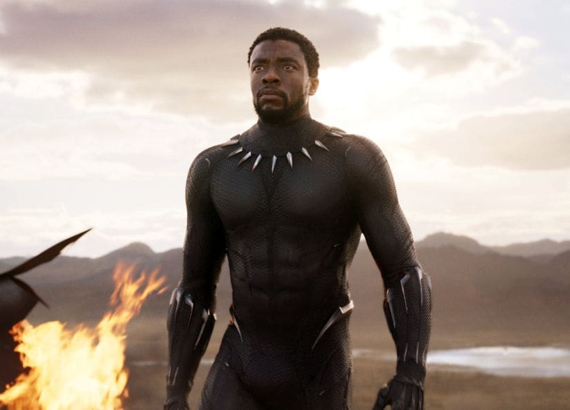 Chadwick Boseman in a still from Black Panther. Marvel