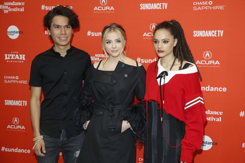 """Cast members from left, Forrest Goodluck, Chloe Grace Moretz, and Sasha Lane pose at the premiere of """"The Miseducation of Cameron Post"""" during the 2018 Sundance Film Festival on Monday, Jan. 22, 2018, in Park City, Utah. (Photo by Danny Moloshok/Invision/AP)"""