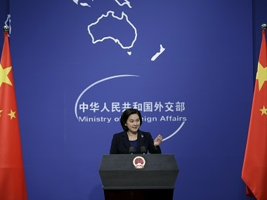 File image of Hua Chunying, spokeswoman of China's foreign ministry.
