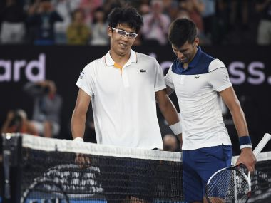 South Korea's Chung Hyeon outplayed Novak Djokovic in his own game at the Rod Laver Arena. AP