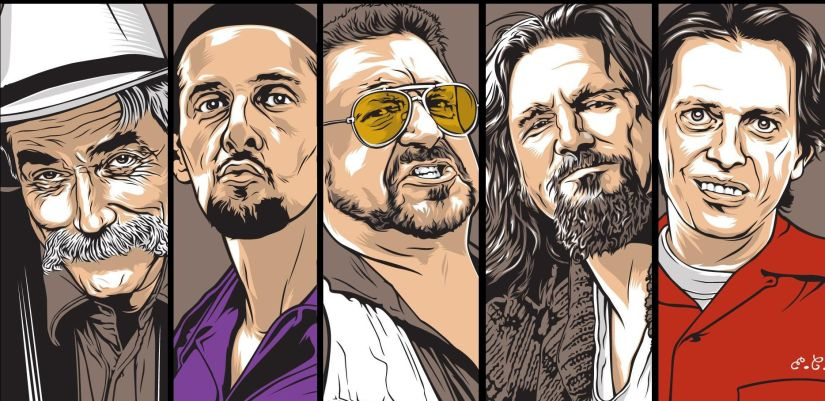 Memorable characters from the films of the Coen brothers. Image courtesy: riversofgrue