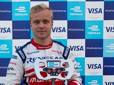 Felix Rosenqvist won his second Formula E race at Marrakesh. Image courtesy: Twitter @VisaEurope