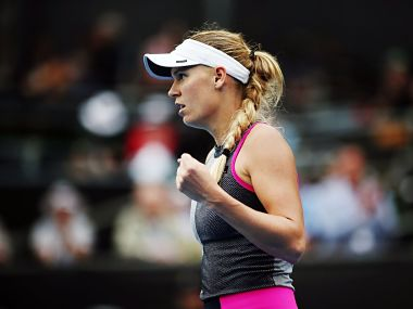 Caroline Wozniacki was on the court for five hours on the way to the final. Image courtesy: Twitter @WTA