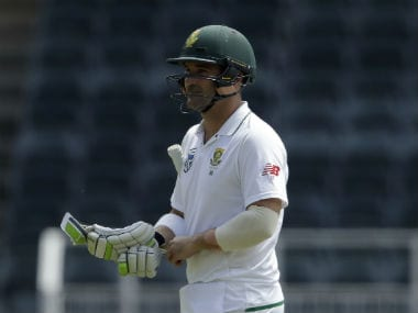 Dean Elgar put up an unbeaten 86 in the second innings of the third Test despite being subjected to a rain of blows on his body. AP