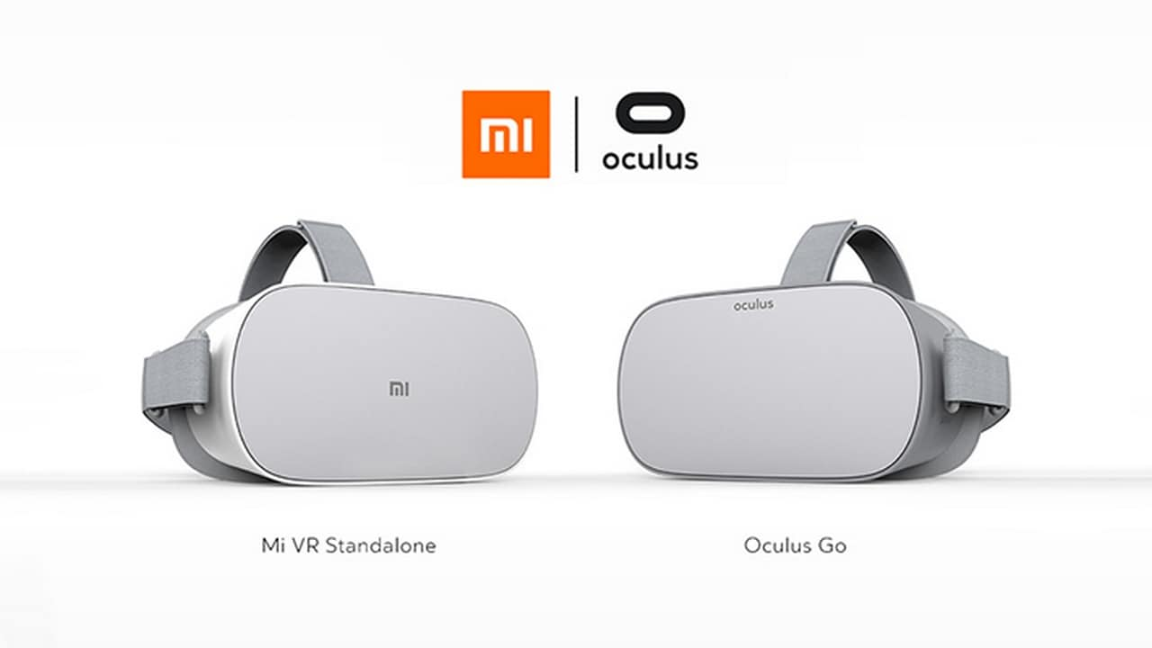 The Oculus Go VR headset alongside the new Mi VR Standalone by Xiaomi.